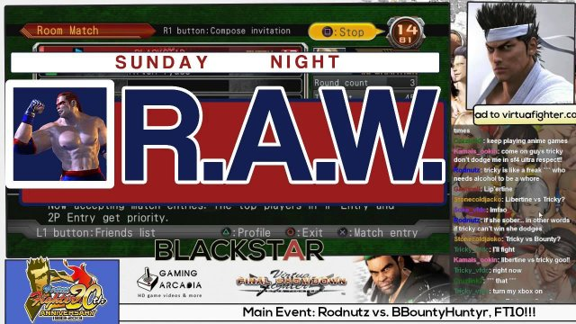 Sunday Night R.A.W. #26! (Part 2) Blitzball Champ vs BLACKSTAR, FT5!