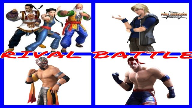 VIRTUA FIGHTER 5: FINAL SHOWDOWN- Rank Rivalry, Dee (Lau/ Shun Di/ Pai) vs Jason Elbow (Wolf/ Lion)
