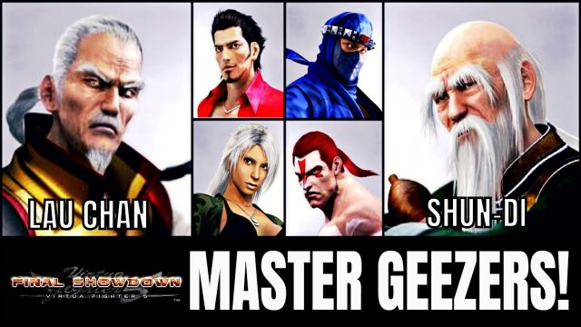 THE VF MASTER GEEZERS! (Virtua Fighter 5: Final Showdown)- Lau Chan & Shun Di matches. (FGC, VF5FS)