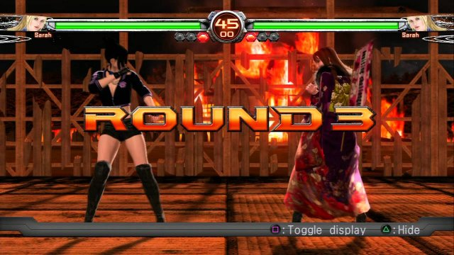 VF5FS Sarah (spliffy baz) vs Sarah (Dark Nova Void)
